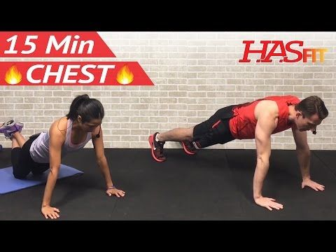 15 Min Chest Workout at Home - Chest Workouts with Dumbbells - Pectoral Exercises for Men & Women - YouTube