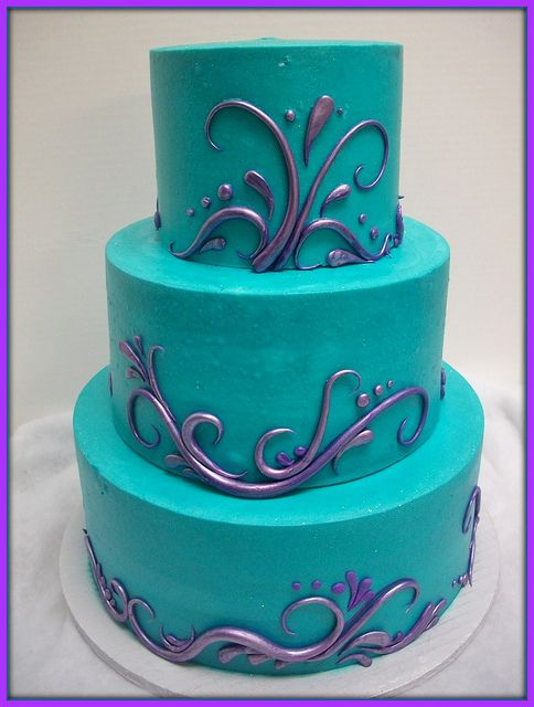 puple and teal cakes | Swirlized pearlized purple and teal front shot | Flickr - Photo ...