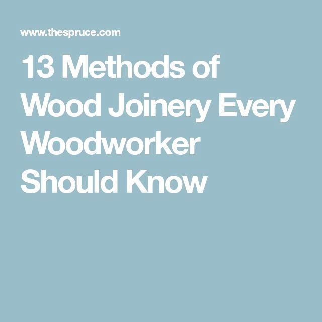 13 Methods Of Wood Joinery Every Woodworker Should Know In 2018