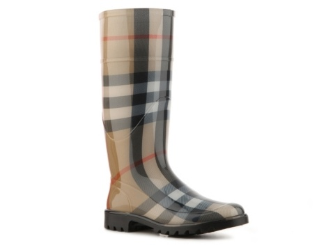 Burberry House Check Rubber Rain Boot