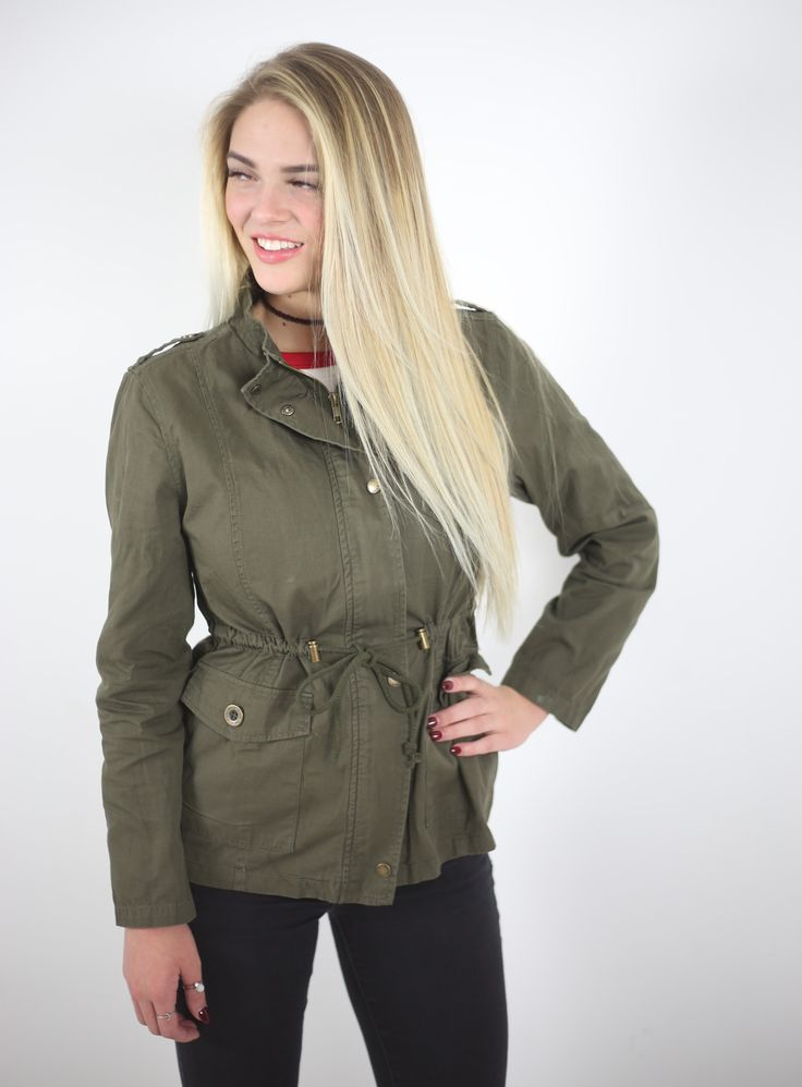Soft cotton material for comfort. Front zip and snap button closure. Two front button-flap pockets. Single chest button-flap pocket. Adjustable drawstring on waist. Material: 100% Cotton - Small: Bust