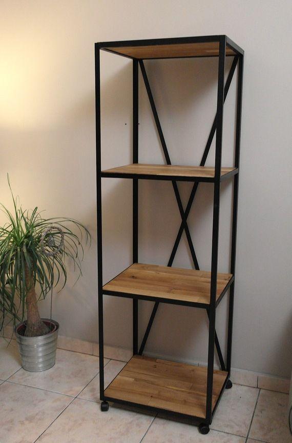 etag re loft indus en acier et bois biblioth que pinterest. Black Bedroom Furniture Sets. Home Design Ideas