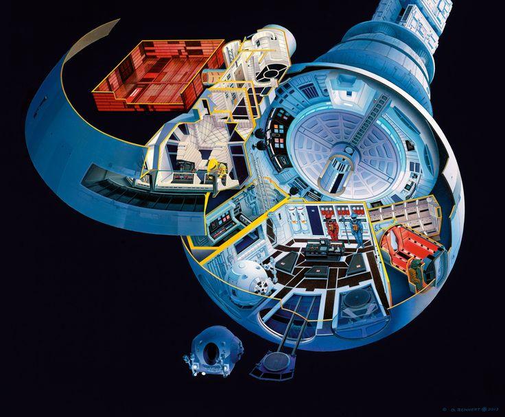 2001: A Space Odyssey Discovery cutaway | Sci-Fi Cutaways ...