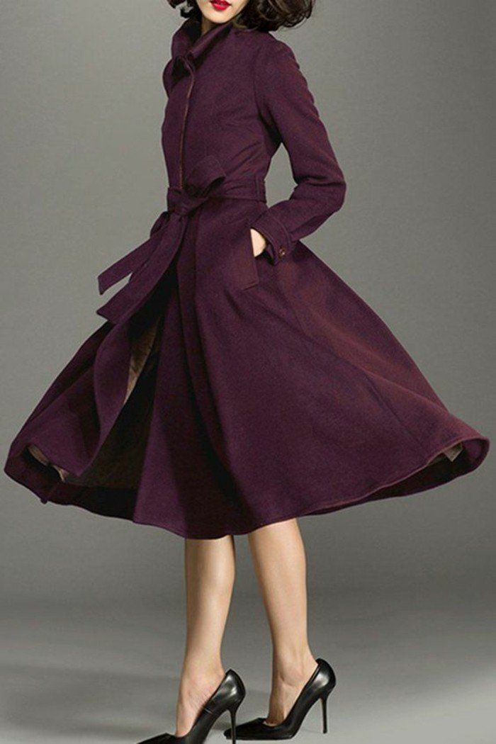 trench femme couleur prune hyper chic