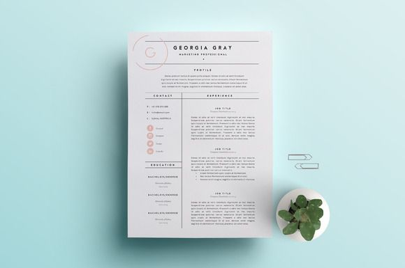 Resume Template 3 Page | CV Template by The Template Depot on @creativemarket