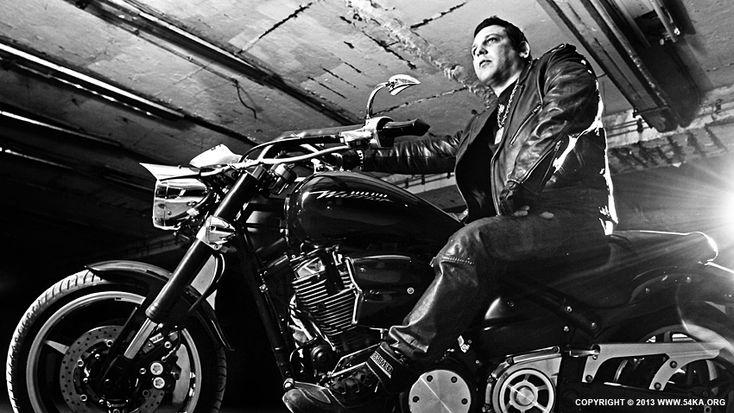 Biker Portrait B&W by Dimitar Hristov (54ka)