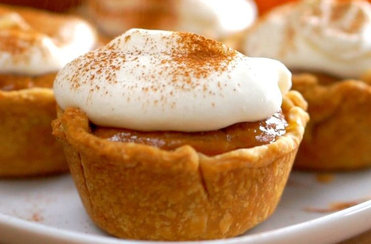 Easy, Adorable, and Yummy! Everything is cuter in miniature and with these mini pumpkin pies you get more pie crust. These personalized pumpkin pies are so adorable and easy to make. See how quick they come together in this short one minute video: Follow us on Pinterest >> Tip Hero Mini Pumpkin Pies Ingredients: 1 box refrigerated pie crust (2 crusts in a box) 1 (15 oz) can pureed pumpkin 2 eggs 1 (14 oz) can sweetened condensed milk 1 Tbsp pumpkin pie spice 1/4 tsp table salt Plus...