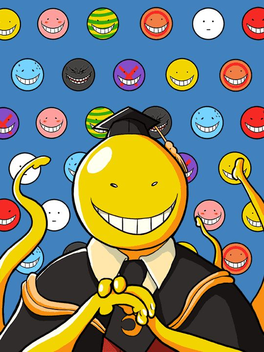 (Korosensei) Koro-sensei ⭐ Professeur • Classe : 3-E • Collège : Kunugigaoka ⭐ Son visage change de couleur selon son humeur… ~ Anime Manga : Assassination Classroom • {Traduction : La classe d'assassinat} ~ [_MangAnime_] ~ [✨GiF✨]