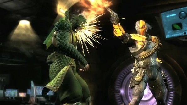 http://www.gamesta.com/injustice-adds-deathstroke-the-terminator/    Gamesta.com has the latest playable characters for superhero brawler Injustice: Gods Among Us. The DC Comics version of Mortal Kombat will add assassin Deathstroke the Terminator to its roster of deadly fighters. A video displays his deadly arsenal.