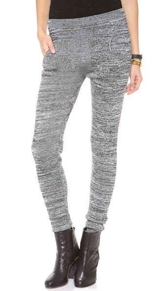 Plush - Marled Sweater Leggings - Available at ShopBop