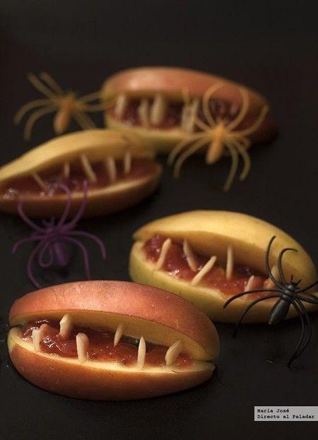 Halloween. Bocas de Manzana