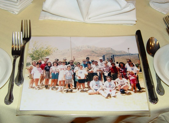 Make copies of your class photo and use as a placemat at your high school reunion.