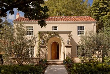 CURB APPEAL – another great example of beautiful design. A Palo Alto Residence with mediterranean exterior in san francisco by Melanie Coddington.