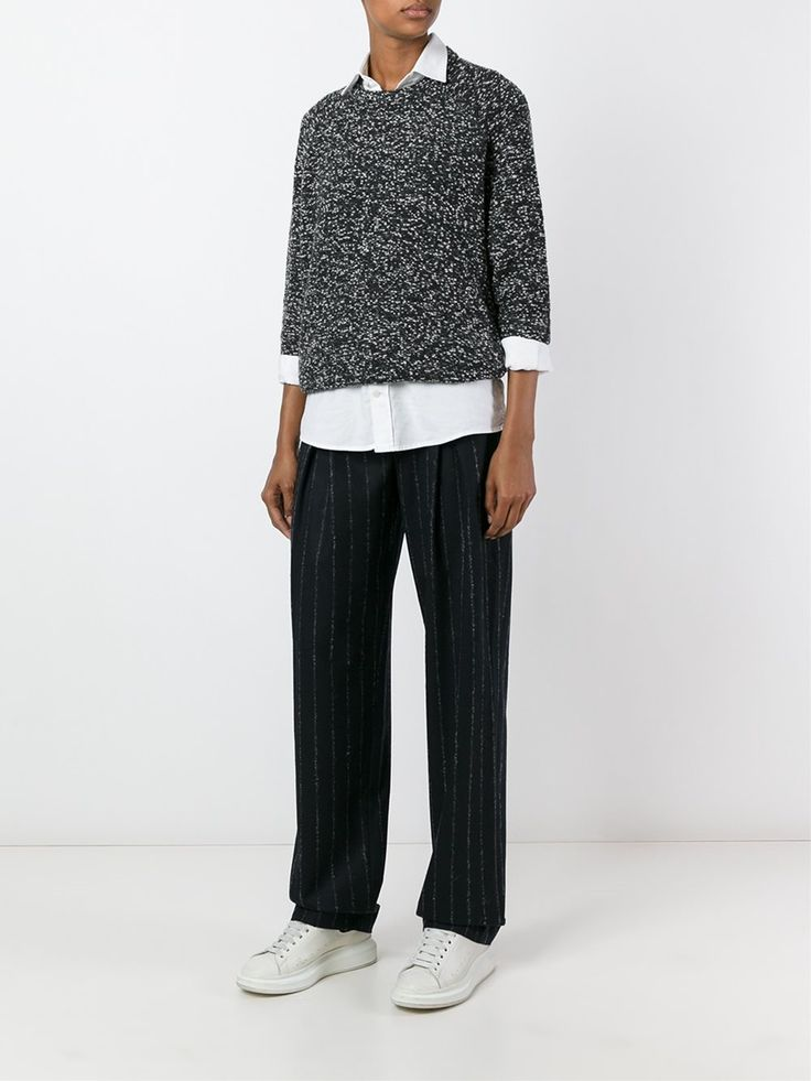 Brunello Cucinelli cropped sleeves jumper