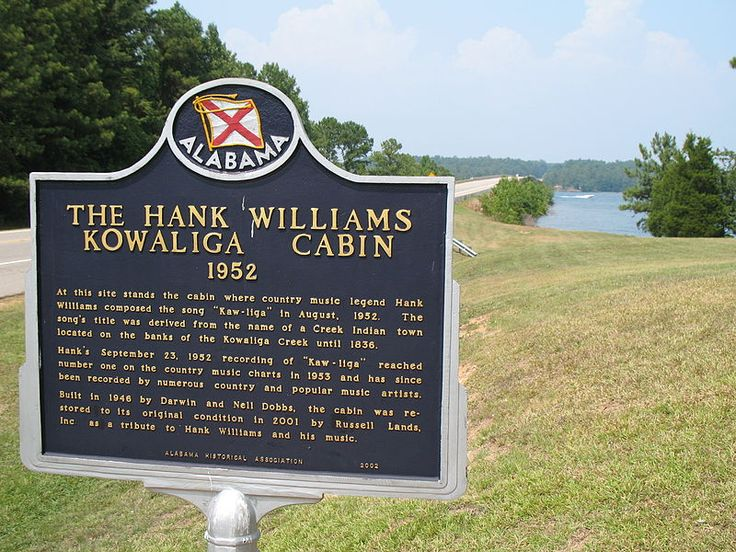 Historical marker for the cabin in Kowaliga, Alabama, were Hank Williams wrote the song Kaw-Liga.... location for my new album cover and photos - my new album, Reckless.  Beautiful and magical place, a truly inspiring experience!!