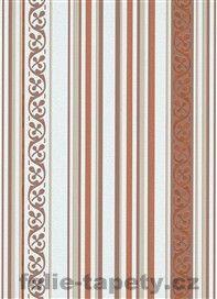 Moderní vliesové tapety Pure Elegance - pruhy hnědé motiv