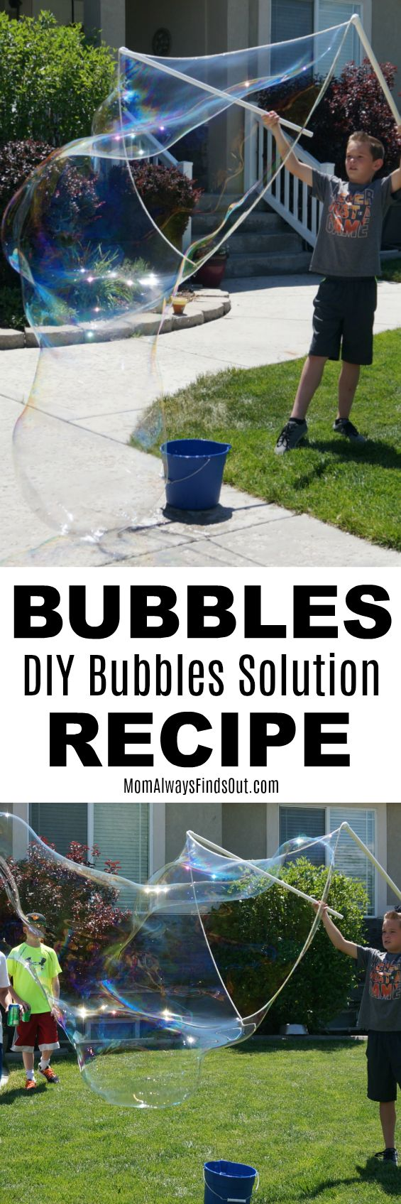 Homemade Bubbles Solution Recipe - Easy and it makes GREAT bubbles!