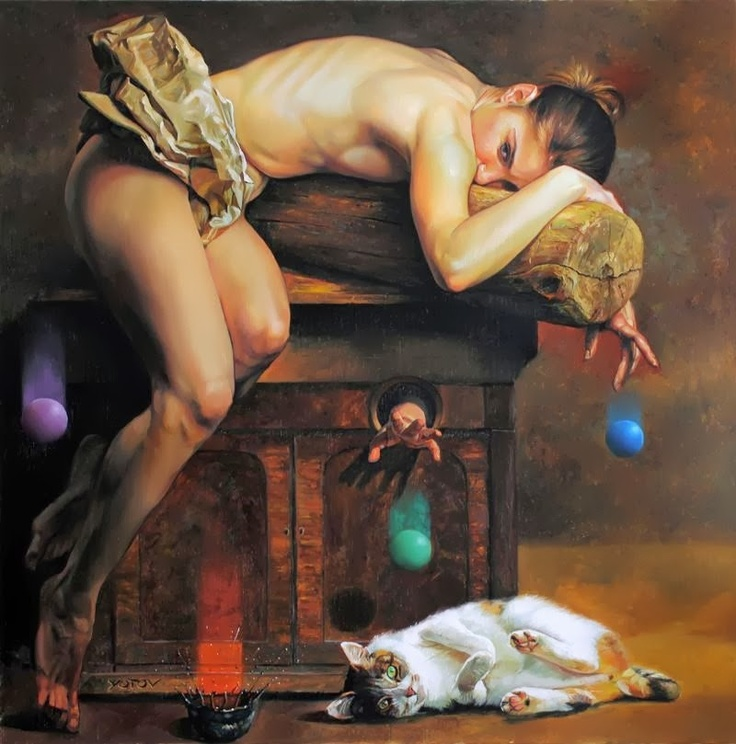Fine Nude Of The Day - Painter Miroslav Yotov | DANCES WITH COLORS