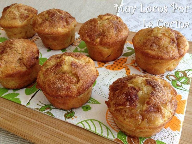 Twittear     Estos muffins son una verdadera delicia :-) Son esponjosos y están llenos de trocitos de manzana aromatizada con c...