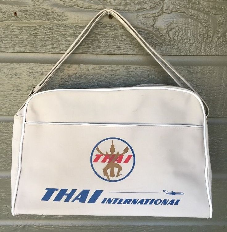 Vintage Thai International Airways Airline Flight Stewardess Bag