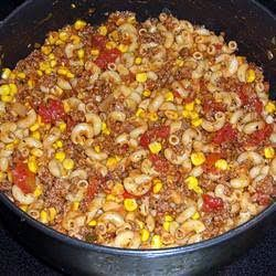 """Hillbilly Dinner! 4.54 stars, 24 reviews. """"A quick and easy dinner. This goes great with garlic bread and a salad"""". Easy quick hot dinner."""