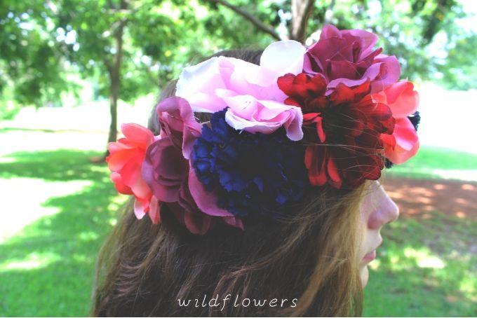 Full Flower Crown by Wildflowers