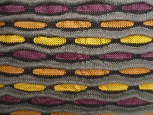 Kathleen Morris machine knit fabric with natural dyes and pleats