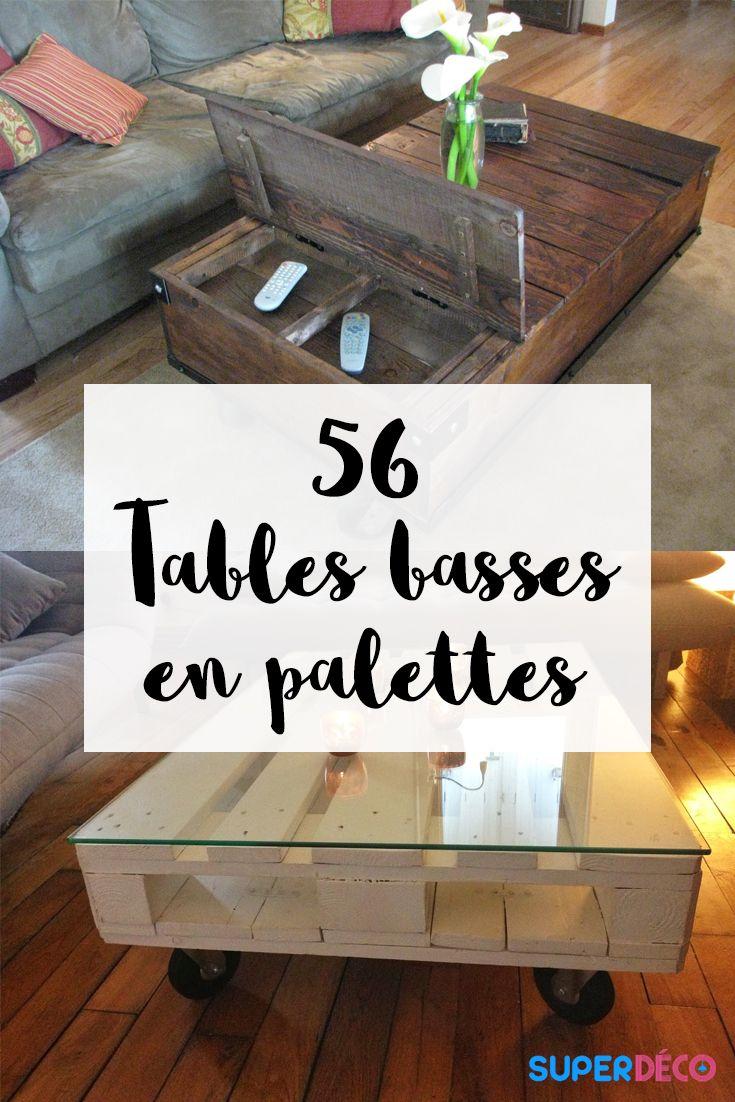 A la recherche d'inspiration pour une table basse en palettes ? Notre article vous révèle 56 modèles de tables basses en palettes exceptionnelles !