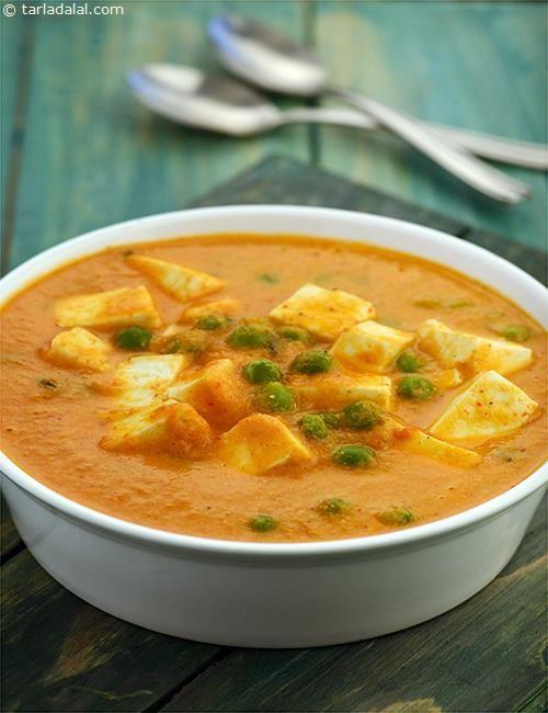 Mutter Paneer Butter Masala recipe | Mutter Paneer Butter Masala Subzi Recipes | by Tarla Dalal | Tarladalal.com | #4322