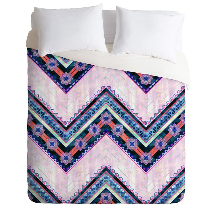 Schatzi Brown Serenity Boho Chevron Pink Duvet Cover | Deny Designs Home Accessories