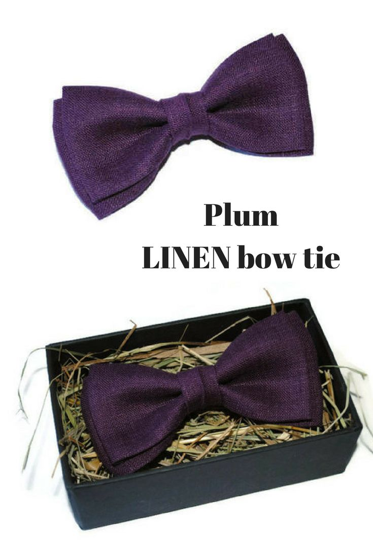 $9,00+ Plum bow tie Aubergine bow tie Eggplant bow tie Deep purple bow tie Mens bowtie Groom bow tie Wedding Groomsmen #plum_wedding #fall_wedding #wedding