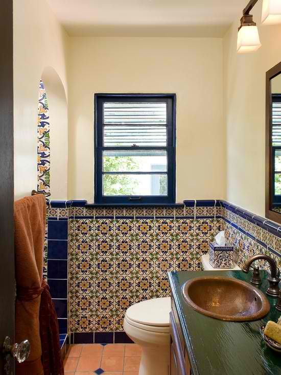 Tupper Spanish Bathroom. Marokkanische FliesenBadezimmerMittelmeer  BadezimmerSpanisches BadezimmerSpanische ...