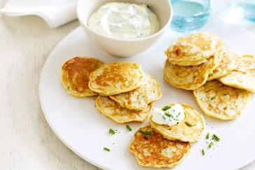 Indulge in healthy choices with these wholesome ham and zucchini pikelets.