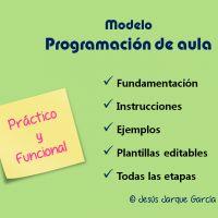 Modelo de programación de aula. Editable.