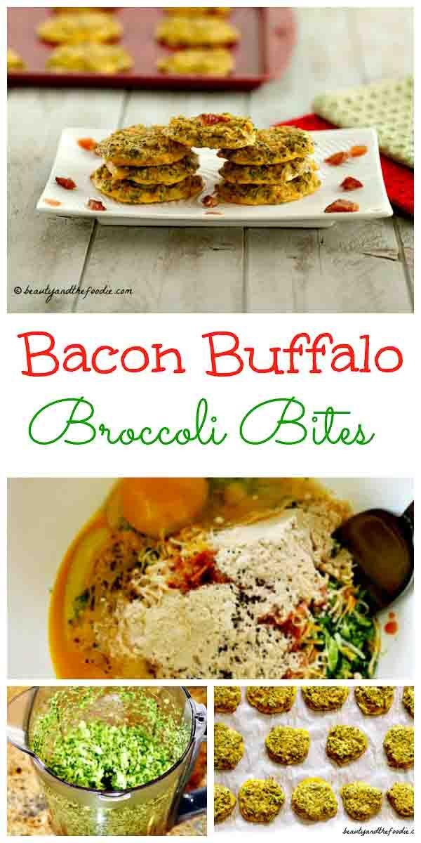 Bacon Buffalo Broccoli Bites - grain free and low carb #baconbroccolibites- beautyandthefoodie.com
