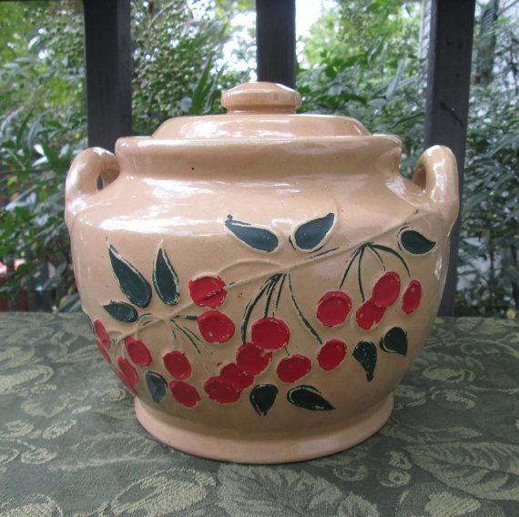 Vintage Pottery Stoneware Cookie Jar 1940s Clay Pottery Crock 2019 Clay Ideas Cookie Jars Vintage Clay Pottery Vintage Pottery