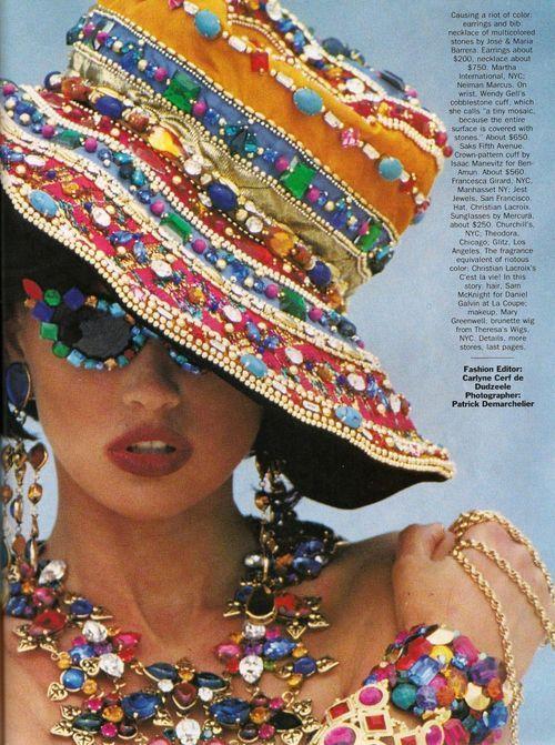 "samsaraboutique:    80s-90s-supermodels:    ""Getting Stoned"", Vogue US, August 1990Photographer : Patrick DemarchelierModel : Daniela Pestova     Getting Stoned."