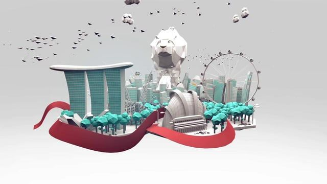 A piece created by a team of 8 designers.  Benjamin Ang; 3D modeler and animator, compositor, storyboarding Ian Chua; 3D modeler and animator, compositor, storyboarding Lim Junda; 3D modeler and animator, compositor, storyboarding Lydia Lee; 3D modeler and animator, compositor, 3D character designer Ong Gekhan; 3D modeler and animator, compositor Dawn Tan; 3D animator, compositor, character designer Elaine Ang; 2D animator, compositor SY; infographics and audio creator