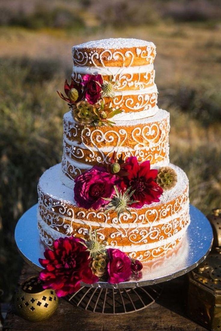 Estos son los 20 naked cake que todas las novias quieren llevar a su boda