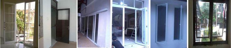 jendela aluminium + kaca
