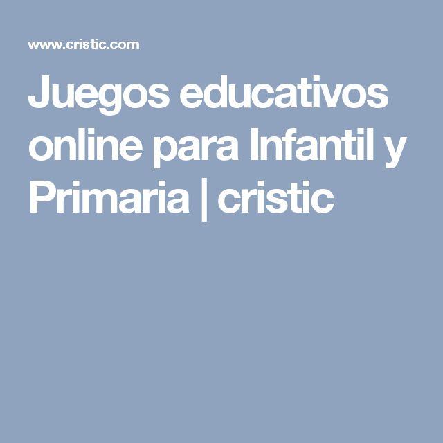 Juegos educativos online para Infantil y Primaria | cristic