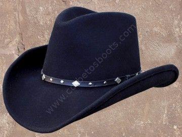 Sombrero cowboy de fieltro negro resistente al agua - Black waterproof felt cowboy hat