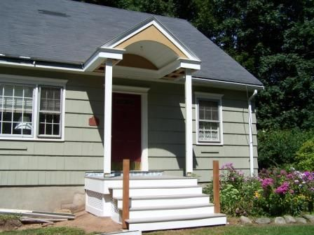 Building Stoop Roof & Porch Roof Construction |Wood Stoop Construction Ideas