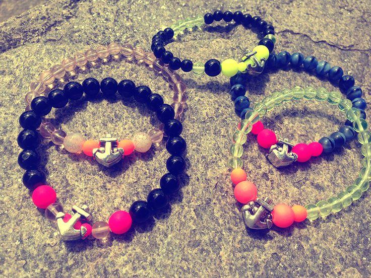 #FriendshipBracelets #BraceletsForFun #BraceletsLucky #BraceletsForAbundance #BraceletsOfLove #BraceletsForYou #Pink #DarkPink #Beads  #anchor #SailorStyle https://www.facebook.com/ensistore