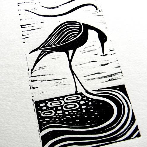 Beautiful Lino Print