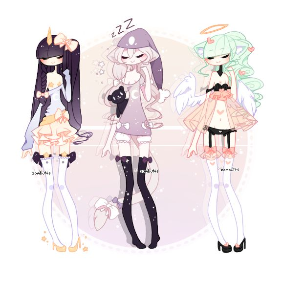 Anime Character Design Tips : By zombutts on deviantart character designs