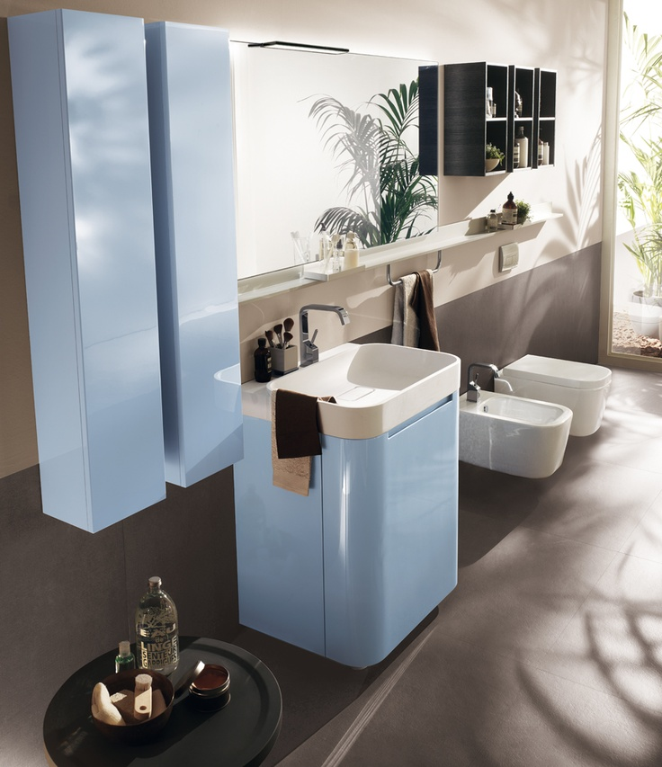 #kylpyhuone #scavolini #decorkylpyhuoneet #kylpyhuonekalusteet #sisustus  Idro kylpyhuonekaluste Scavolini Elegant monobloc solutions for reduced spaces | Idro Collection by #Scavolini #Bathrooms