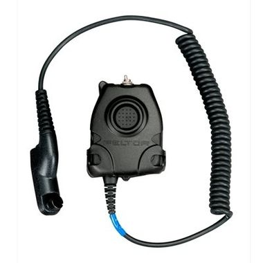 """3M Peltor FL5601-09 NATO push-to-talk (PTT) radio adapter cable.  Used with ComTac, Swat-Tac. AN/VIC-3 Adaptor 30"""" Straight Cable, AP-107 Bail-Out."""