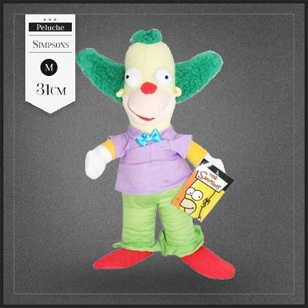 Peluche clown Krusty des Simpsons. Cette peluche Krusty le clown est vraiment très sympa pour tous les fans des Simpson.