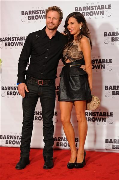 Dierks Bentley and his wife, Cassidy Black, arrive at the Barnstable Brown Gala in Louisville, Ky., on May 2, 2014.